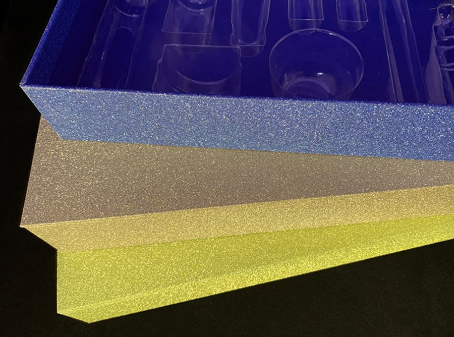 Blue and Yellow Glitter Boxes